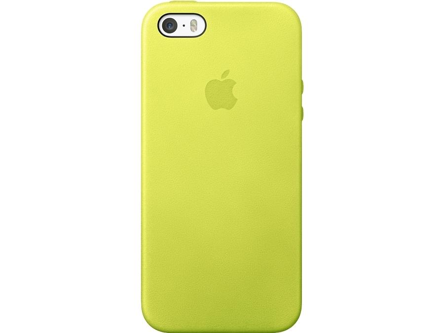 Чехол-крышка Apple Case MF043ZM/A для iPhone 5S, кожа, желтый